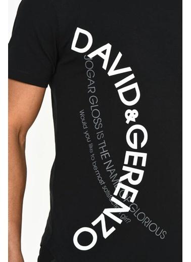 DAVID&GERENZO Tişört Siyah
